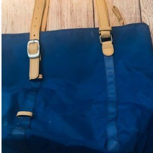 Brics Tote Royal Blue Bag with Leather Handles